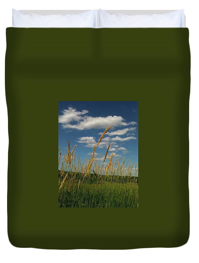 Bandon Beach Duvet Cover featuring the photograph Amber Waves Of Grain by Trish Hale