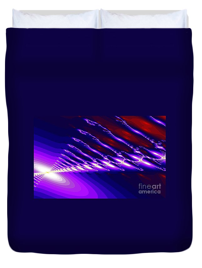 Clay Duvet Cover featuring the digital art Ambient Noise by Clayton Bruster