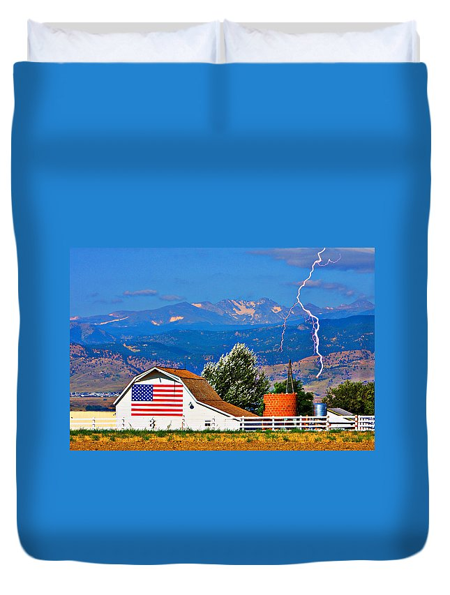 Lightning Duvet Cover featuring the photograph America The Beautiful by James BO Insogna