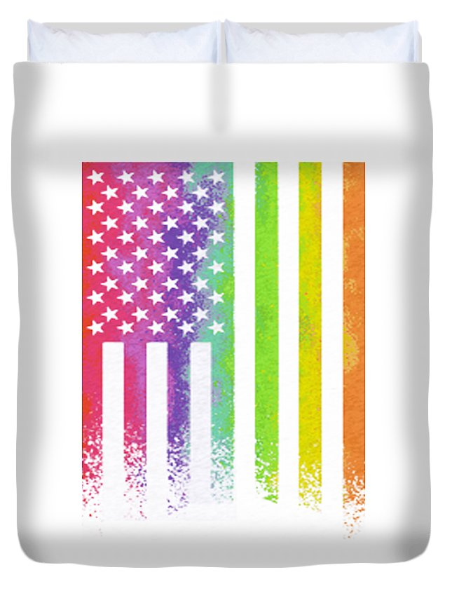 America Duvet Cover featuring the digital art America by Thucidol