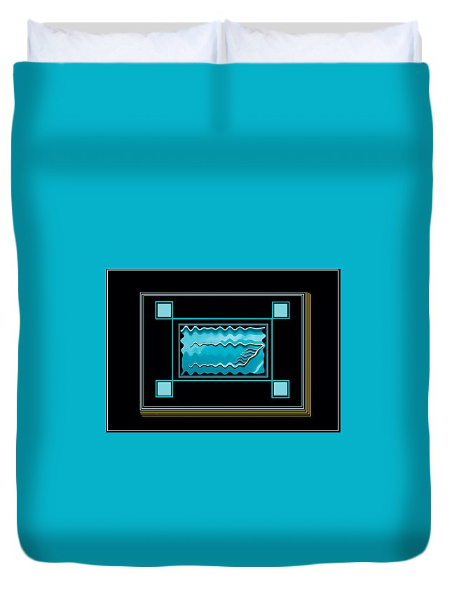 Auto Duvet Cover featuring the digital art America Wave by Peter Leech