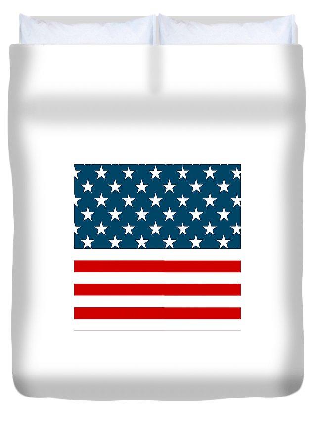 Duvet Cover featuring the digital art American Beach Towel by coastalPassion