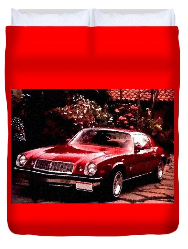 Announcement Duvet Cover featuring the photograph American Dream Cars Catus 1 No. 1 H B by Gert J Rheeders