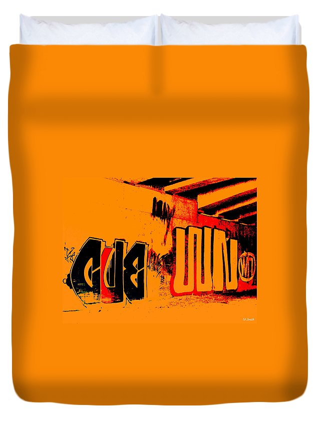 Still Life Duvet Cover featuring the photograph American Graffiti 3 - This Buds For You by Ed Smith