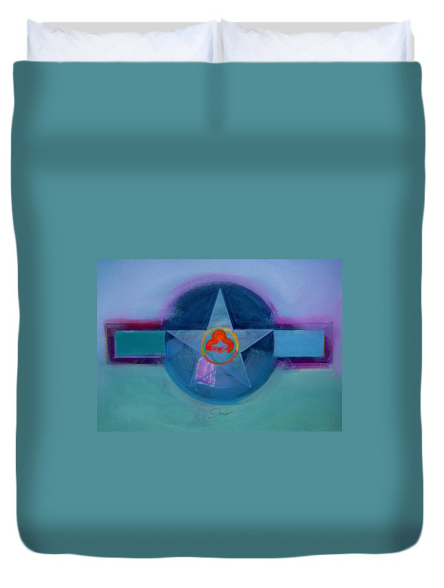 Star Duvet Cover featuring the painting American Spiritual by Charles Stuart