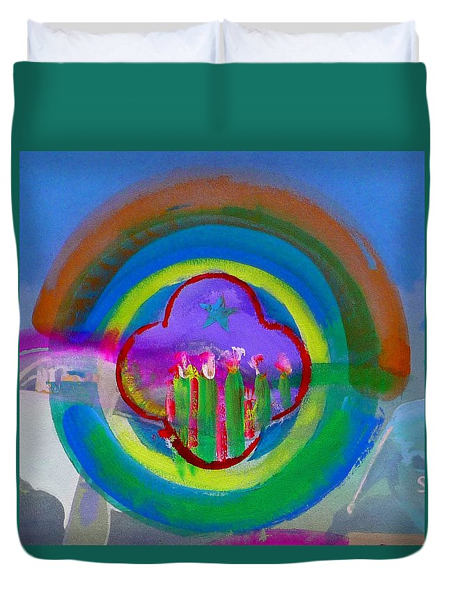 Love Duvet Cover featuring the painting American Spring by Charles Stuart