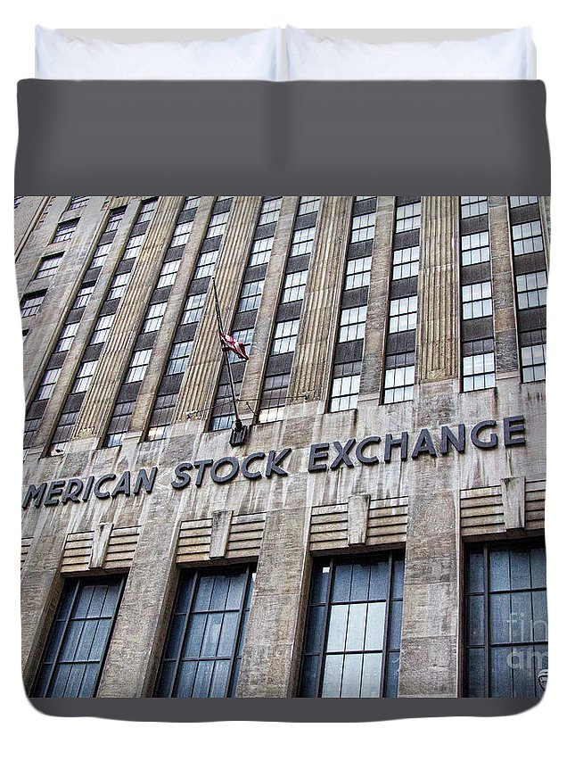 American Stock Exchange Duvet Cover featuring the photograph American Stock Exchange Building New York by Chuck Kuhn