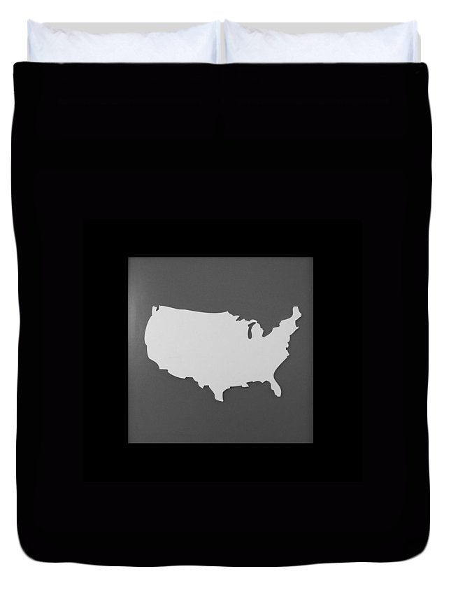 Black And White Duvet Cover featuring the photograph Amerika by Rob Hans