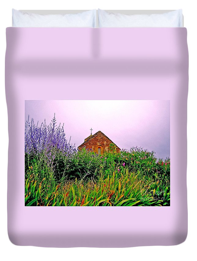 Chapel Duvet Cover featuring the photograph Ameugny 3 by Jeff Barrett