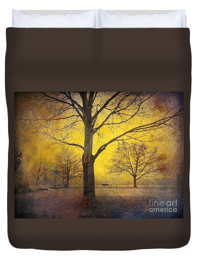 Trees Duvet Cover featuring the photograph Amongst Friends by Tara Turner