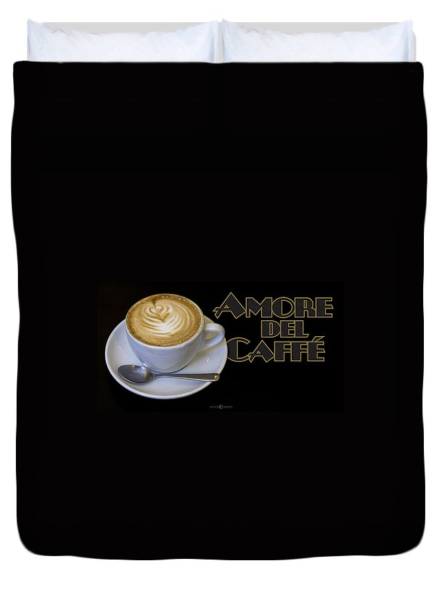 Coffee Duvet Cover featuring the photograph Amore Del Caffe Poster by Tim Nyberg