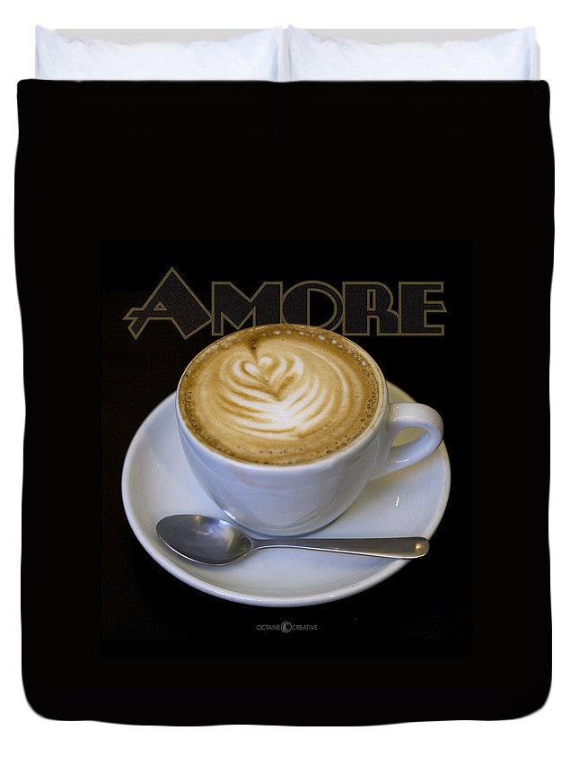 Coffee Duvet Cover featuring the photograph Amore Poster by Tim Nyberg