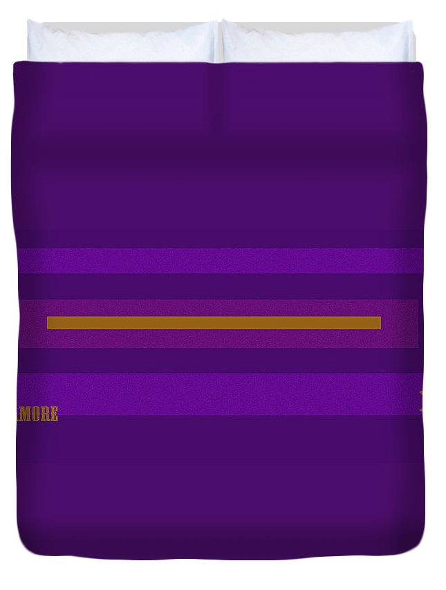 Amore Duvet Cover featuring the digital art Amore Purple by Anne Cameron Cutri