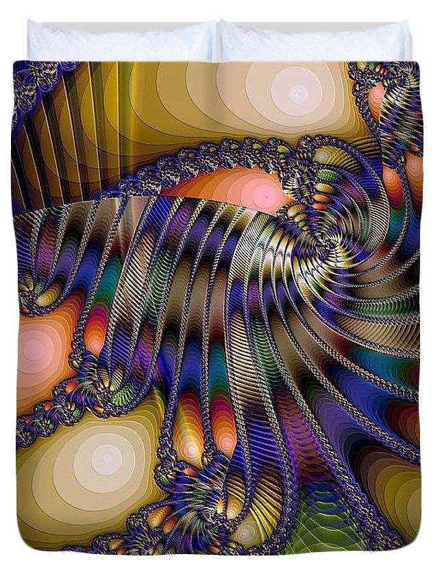 Shrimp Duvet Cover featuring the digital art Amphipod by Ron Bissett