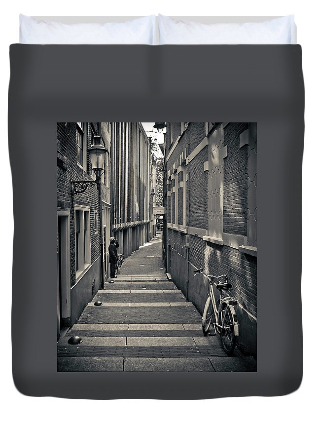 3scape Photos Duvet Cover featuring the photograph Amsterdam by Adam Romanowicz