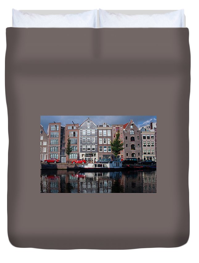 Amsterdam Duvet Cover featuring the photograph Amsterdam Canal by Thomas Marchessault