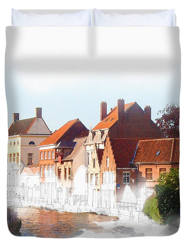 Sydney Duvet Cover featuring the digital art Amsterdam by Don Kuing