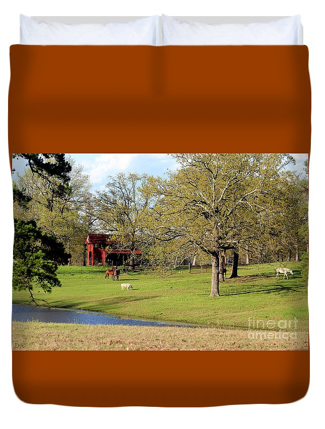An American Farmer Duvet Cover featuring the photograph An American Farmer by Kathy White