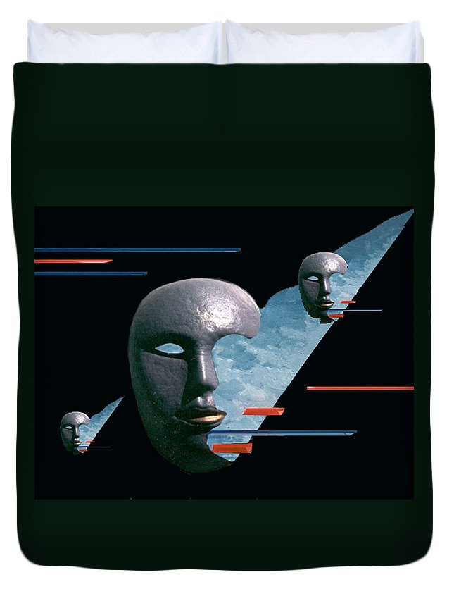 Surreal Duvet Cover featuring the digital art An Androids Dream by Steve Karol