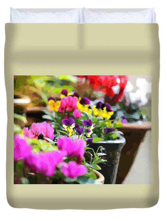Garden Duvet Cover featuring the photograph An Artsy Garden by Zahra Majid