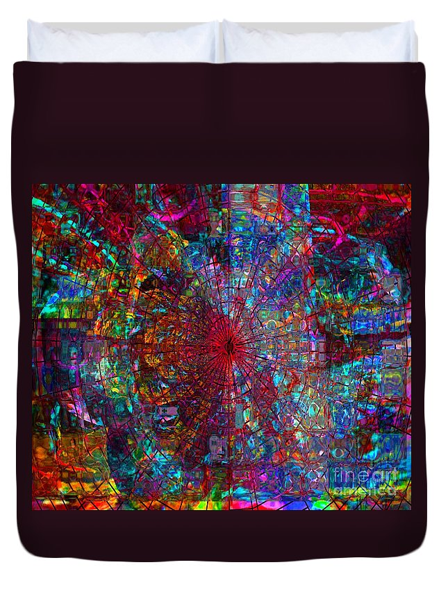 Fania Simon Duvet Cover featuring the mixed media Early November Dream by Fania Simon