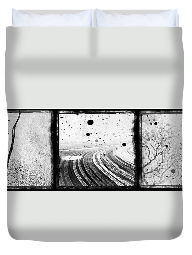 Art Duvet Cover featuring the photograph an English winter - number II by Dorit Fuhg