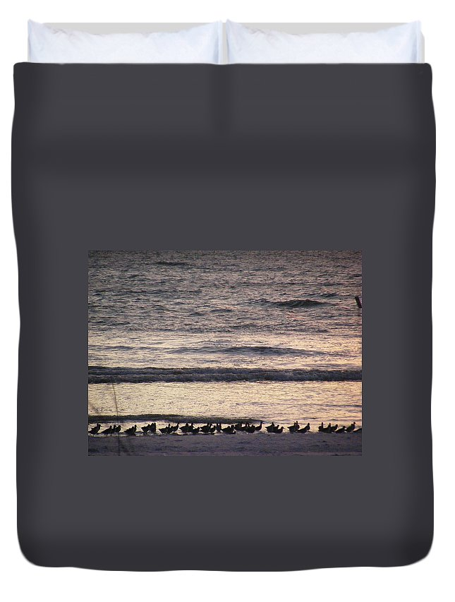 Evening Stroll Duvet Cover featuring the photograph An Evening Stroll by Ed Smith
