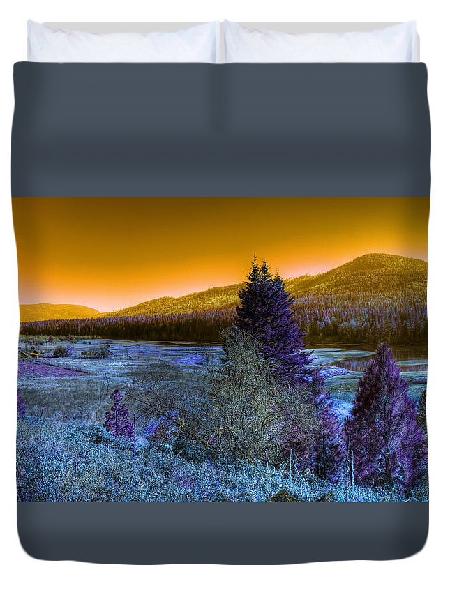 Fantasy Duvet Cover featuring the photograph An Idaho Fantasy 1 by Lee Santa