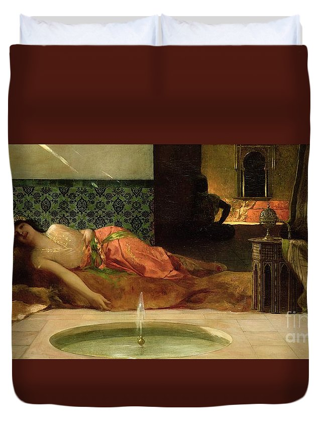 Odalisque Duvet Cover featuring the painting An Odalisque In A Harem by Benjamin Constant