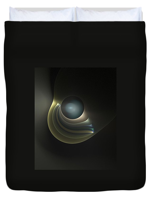 Fractal Duvet Cover featuring the digital art An Orb by Richard Ortolano
