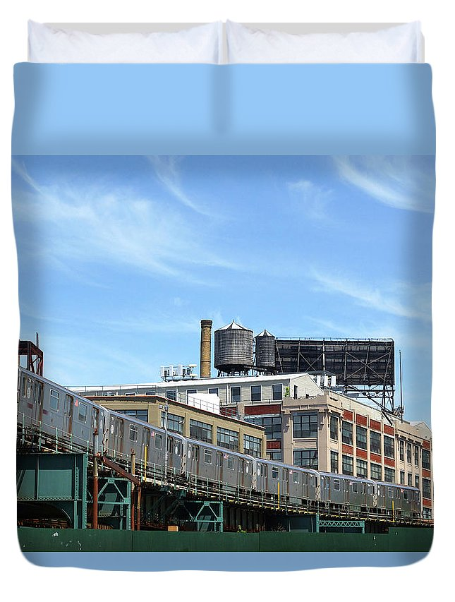 #7 Duvet Cover featuring the photograph An Urban Landscape by Cate Franklyn