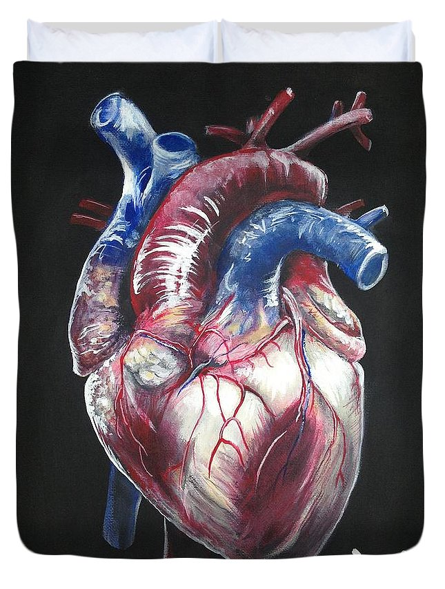 Anatomical Heart Duvet Cover For Sale By Tyler Haddox