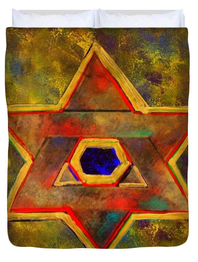Ancient Star Duvet Cover featuring the painting Ancient Star by Wbk