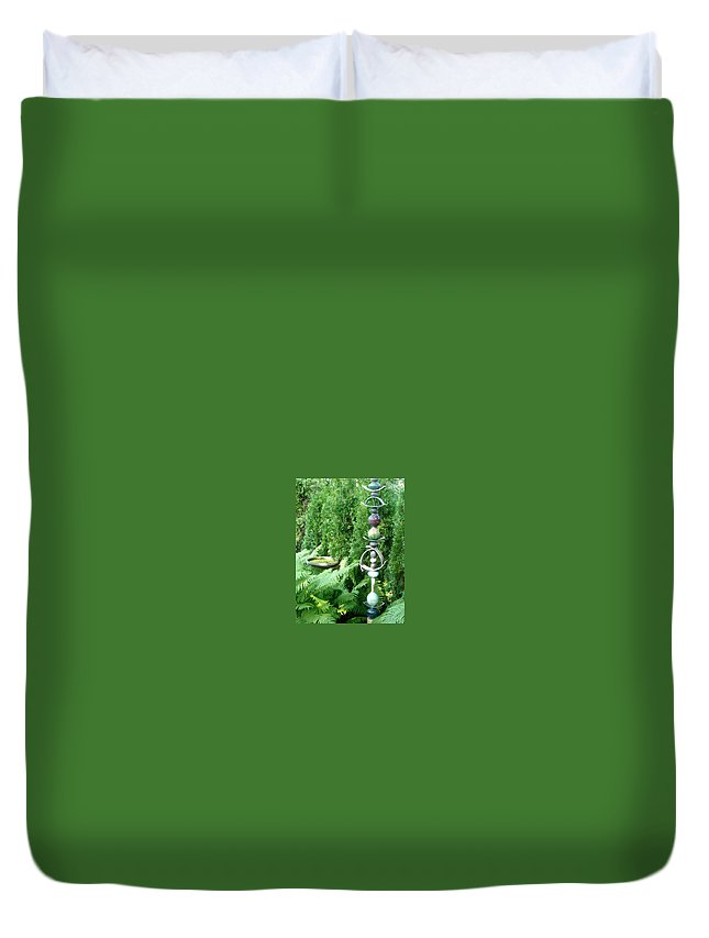 Sculpture Duvet Cover featuring the photograph And Sculpture Garden by Line Gagne