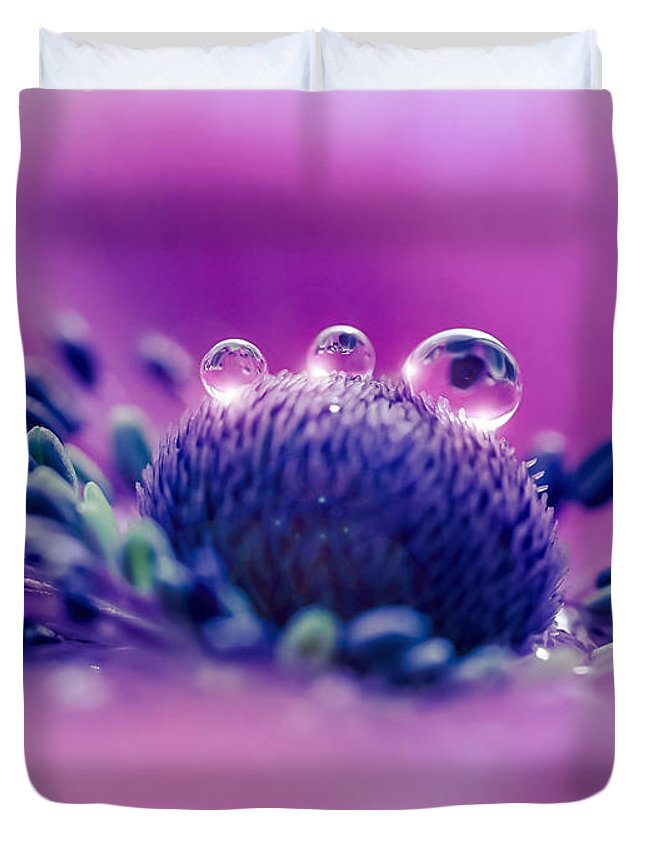 Anemone Duvet Cover featuring the photograph Anemone 05-1 by Wei-San Ooi