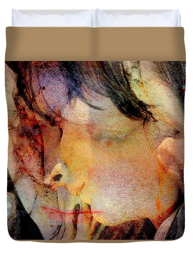 Angel Duvet Cover featuring the digital art Angel Blessings by Derick Burke