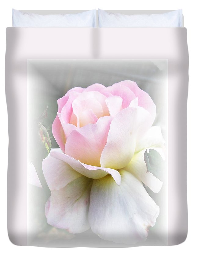 Rose Duvet Cover featuring the photograph Angel by Carol Sweetwood