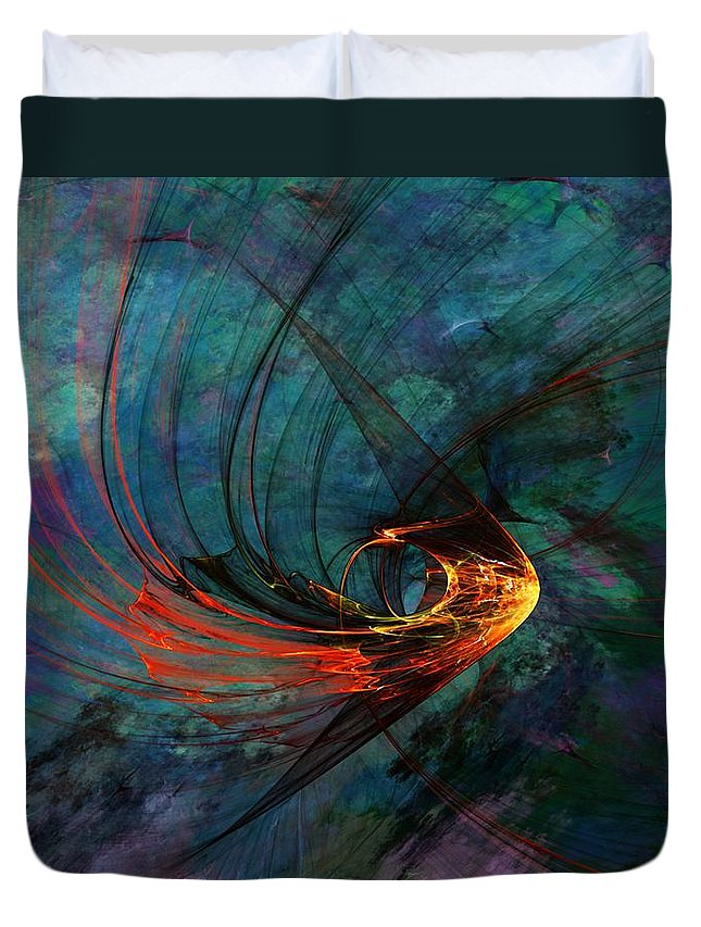Fine Art Digital Art Duvet Cover featuring the digital art Angel From The Deep by David Lane