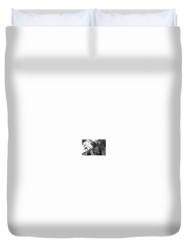 Duvet Cover featuring the photograph Angel by Krysti Willson