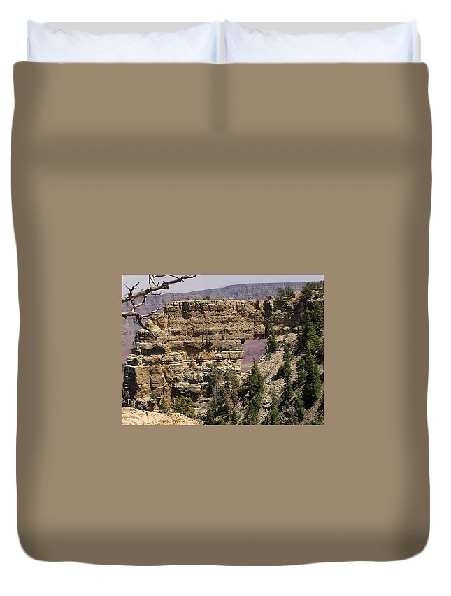 Grand Canyon Duvet Cover featuring the photograph Angel by Louise Magno