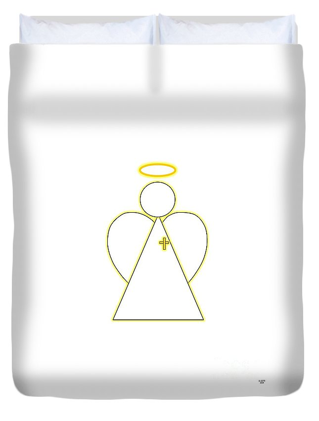 Angel Duvet Cover featuring the digital art Angel Of Faith by Geraldine Cote