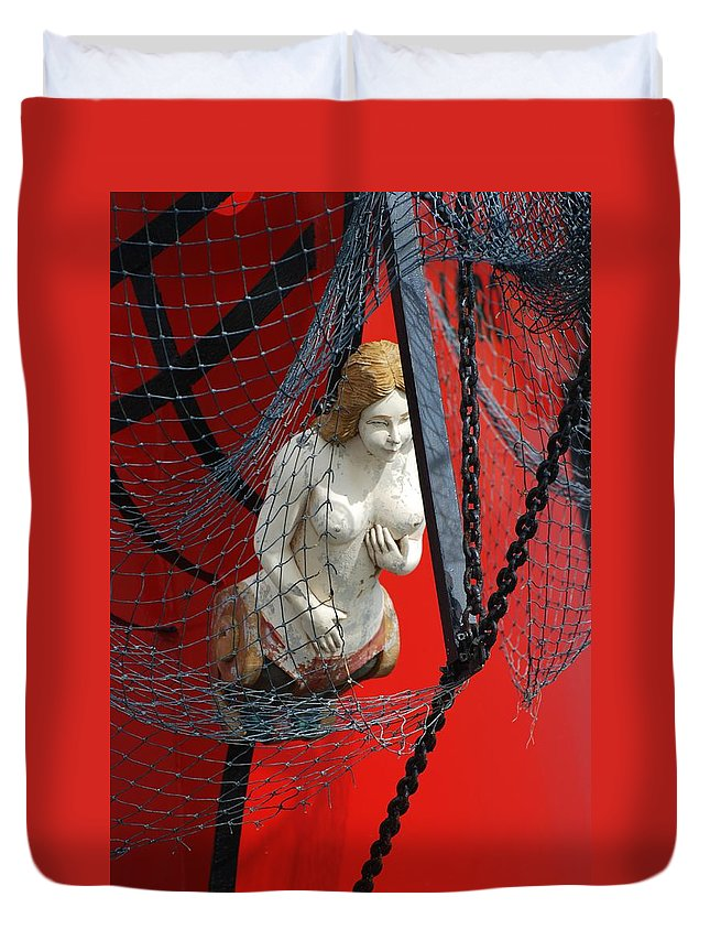 Ship Duvet Cover featuring the photograph Angel Of The Seas by Rob Hans