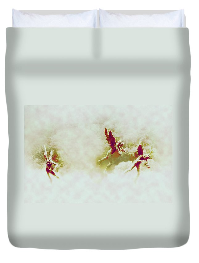 Angels Duvet Cover featuring the photograph Angel Song by Bill Cannon