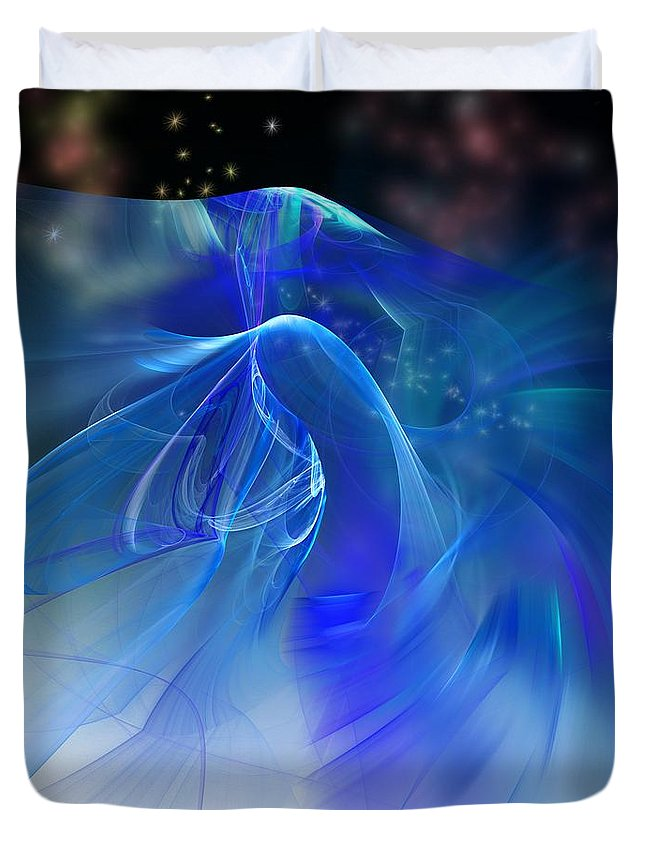 Fine Art Duvet Cover featuring the digital art Angel Wings by David Lane