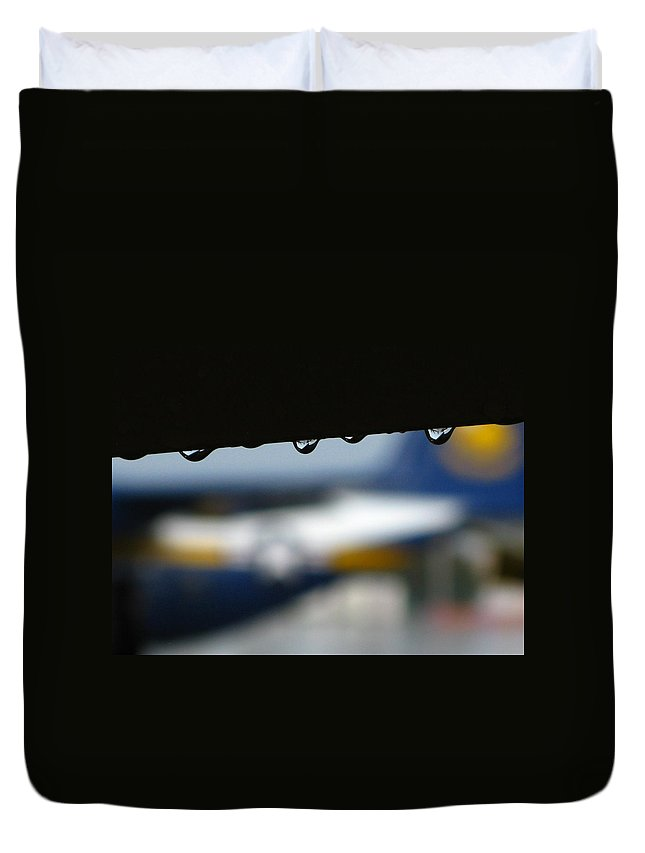 Droplets Duvet Cover featuring the photograph Angel's Tears by Bill Tomsa