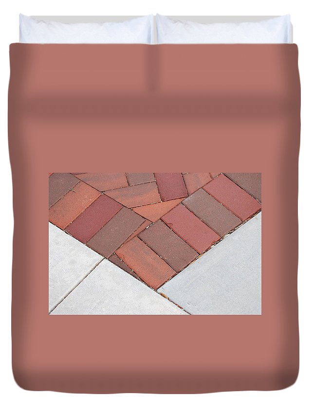 Bricks Duvet Cover featuring the photograph Angles by Rob Hans
