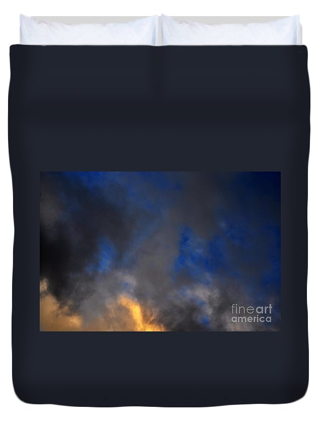 Clay Duvet Cover featuring the photograph Angry Sky by Clayton Bruster