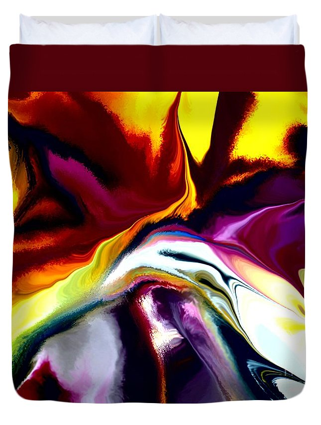 Abstract Duvet Cover featuring the digital art Angst by David Lane