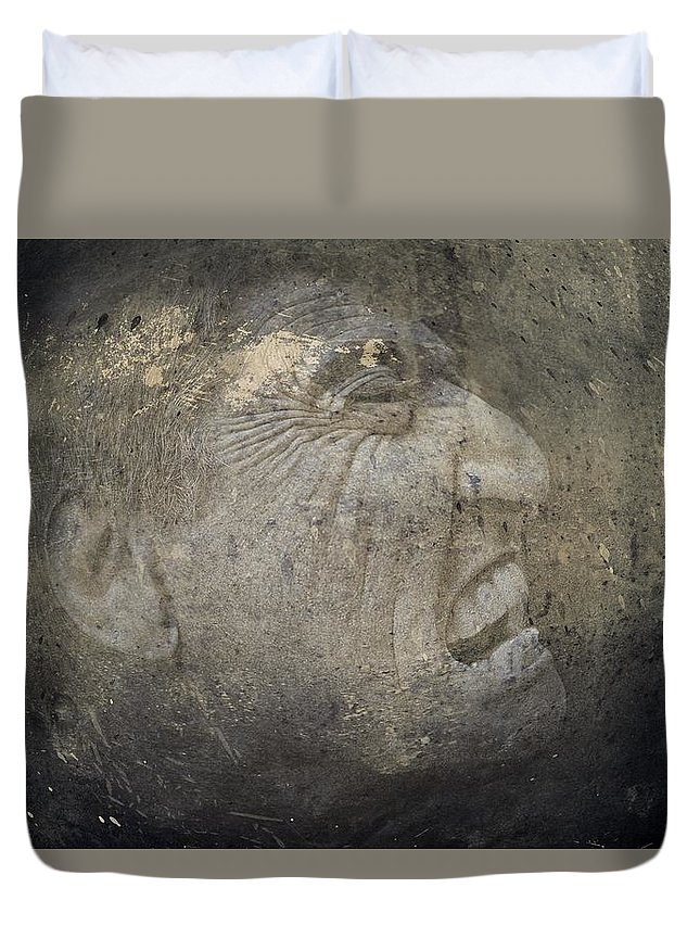 Anguish Duvet Cover featuring the photograph Anguish by Movie Poster Prints