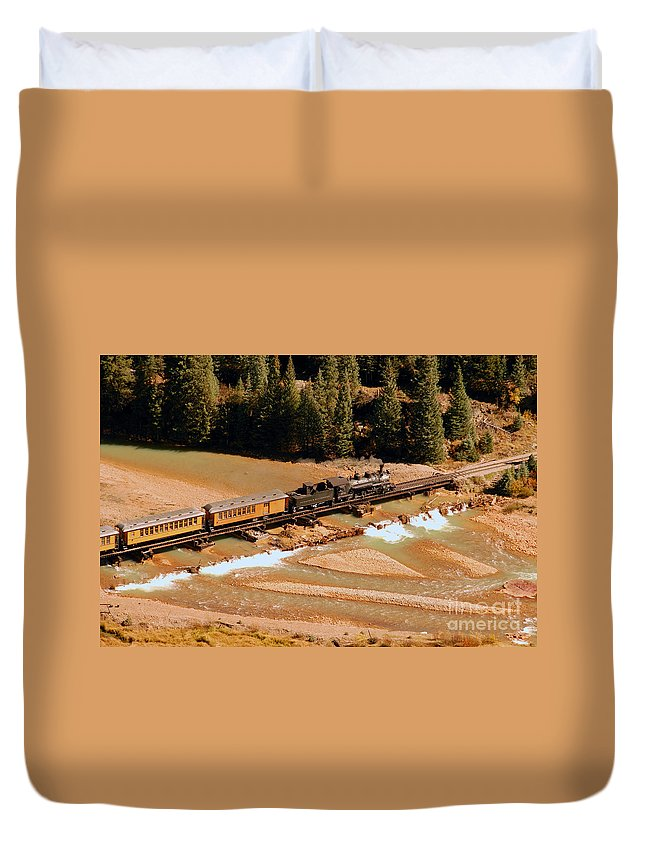 Animas River Duvet Cover featuring the photograph Animas River Crossing by David Lee Thompson